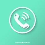 White Phone Icon 23 2147627279